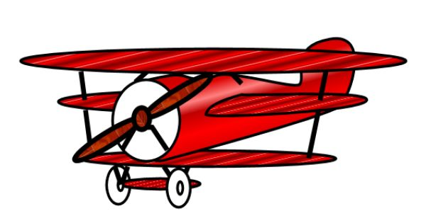 415 Vintage Airplane free clipart.