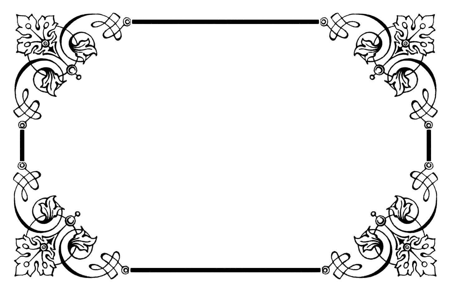 Old fashioned border clipart no fill.