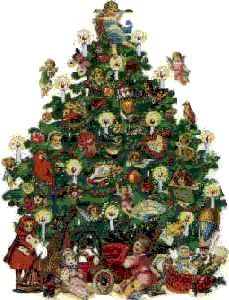14678 Christmas Tree free clipart.