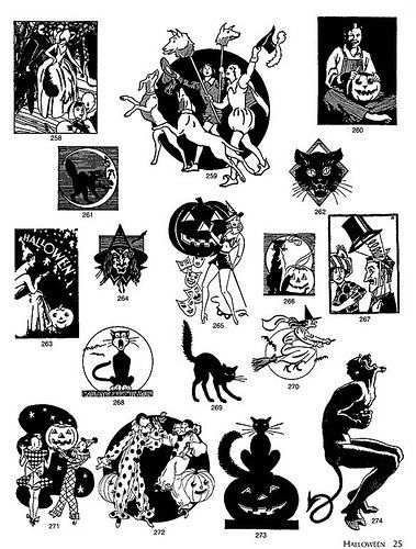 Vintage halloween clipart 3 » Clipart Station.