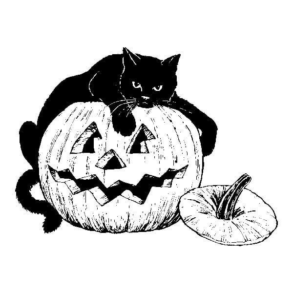 Vintage Halloween Clipart 14.