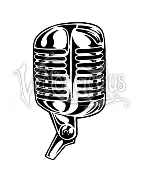 Graphic Classic Microphone ClipArt.