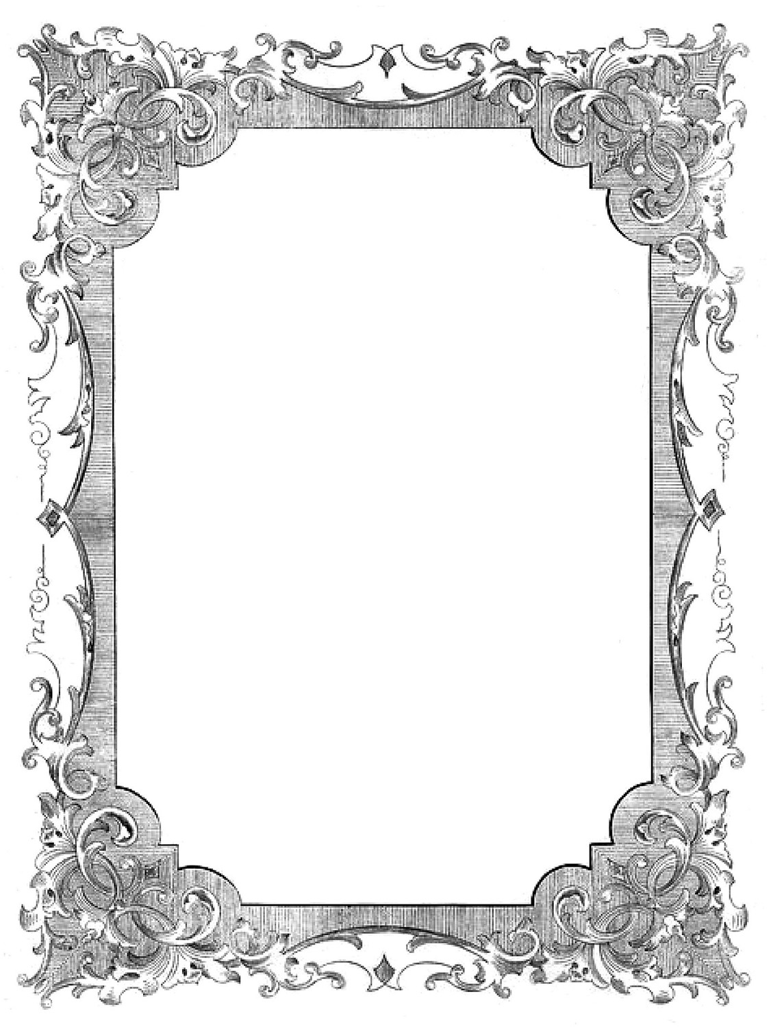 Clipart Images Of Antique Picture Frames.