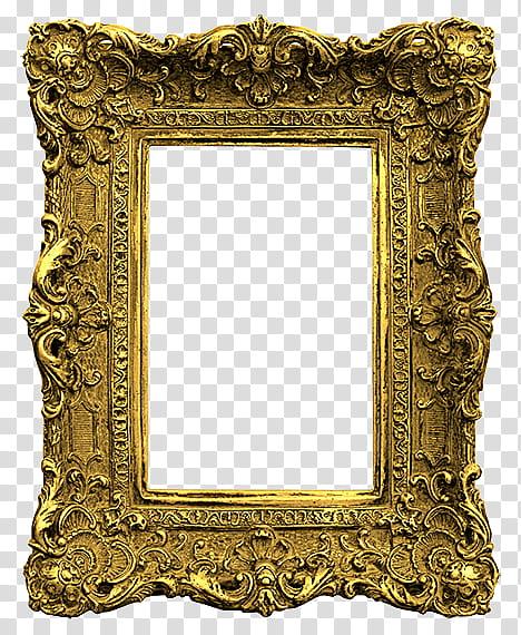 Antique Frames s, brown frame transparent background PNG.