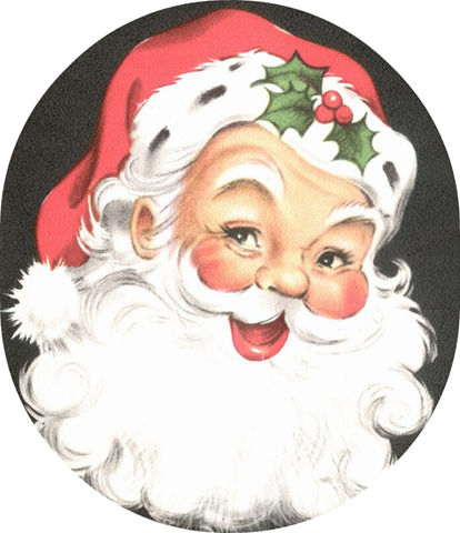 Free Vintage Santa Clip Art.