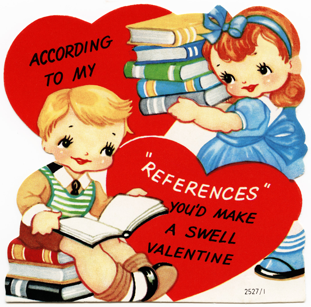 Free Vintage Image ~ A Swell Valentine Card.