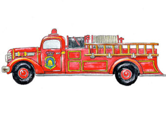 Old fire truck clipart clipartcow.