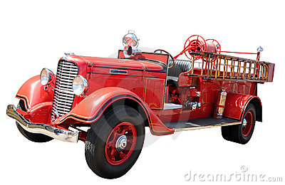 Vintage Fire Truck Stock Photos.