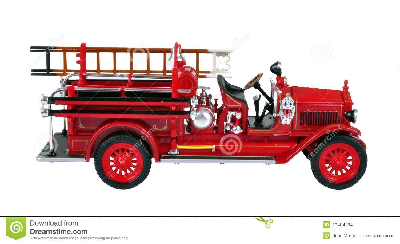 Old Fire Truck Clipart.
