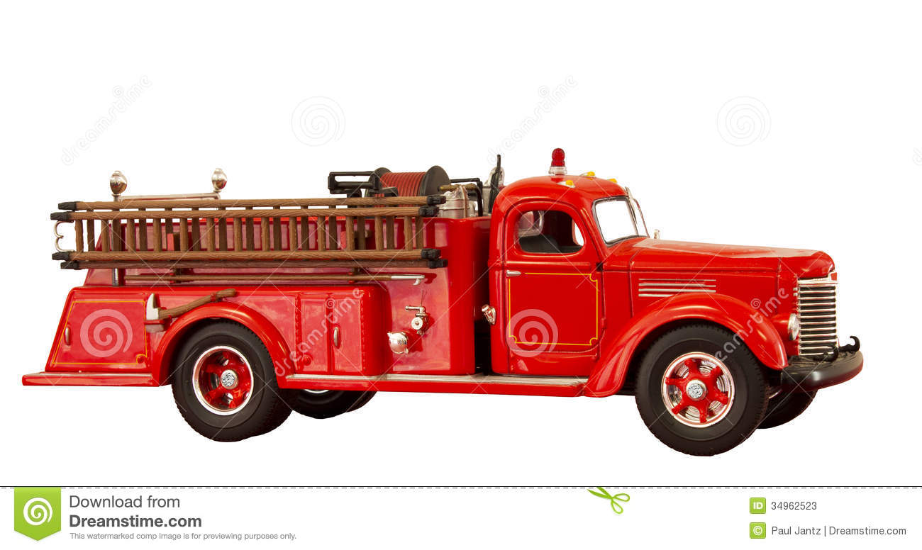 Old school fire truck clipart.