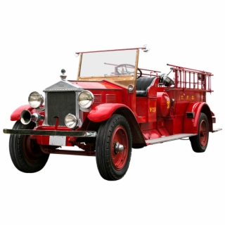 Vehicle, Traffic, Fire, Fire Truck, Isolated, Oldtimer.