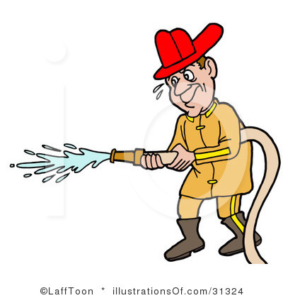 Old Man Firefighter Clipart.