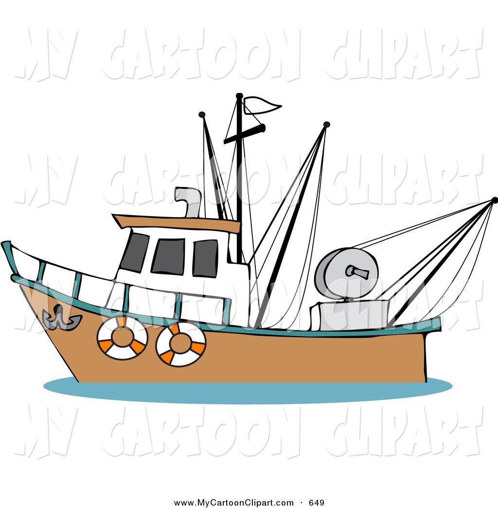Fishing Boats Clipart.
