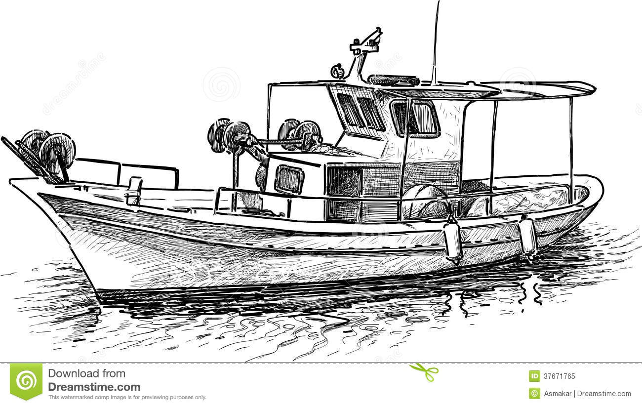 Fishing Boat Stock Photos.