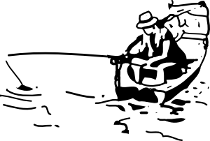 Fishing Boat clip art Free Vector / 4Vector.