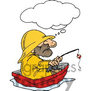 Old man fishing clipart.