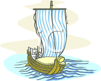 Old Fishing Boat Clipart.