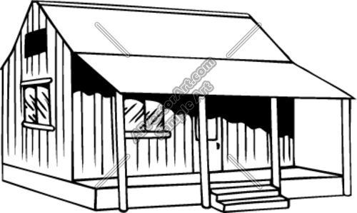 Old Fishing Huts Clipart