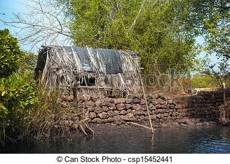 Stock Photo of Old fishing house.
