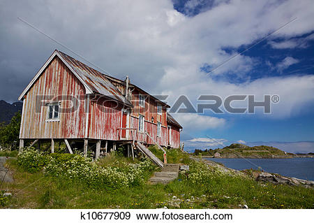 Stock Photograph of Old fishing house k10677909.