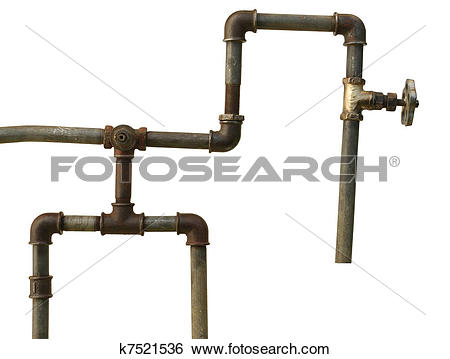 Stock Images of A fragment of the old water conduit consisting of.