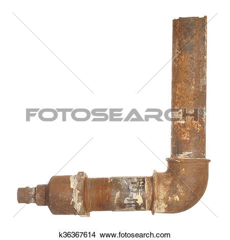 Stock Photo of A fragment of the old water conduit consisting of.