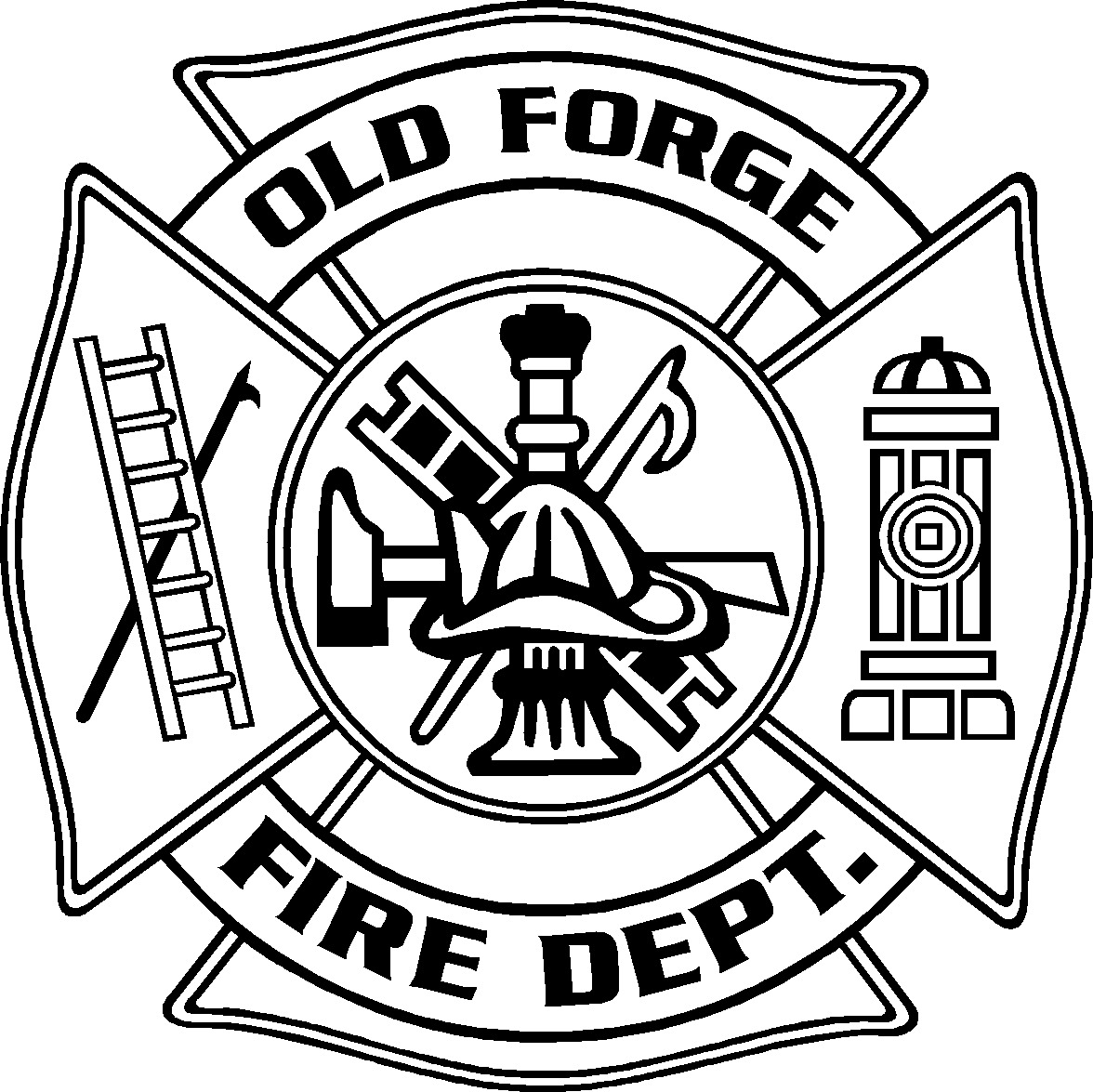 Old Forge FD Maltese Decal.