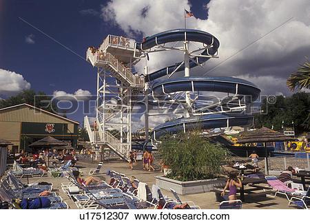 Picture of waterpark, Adirondacks, New York, Adirondack Park.