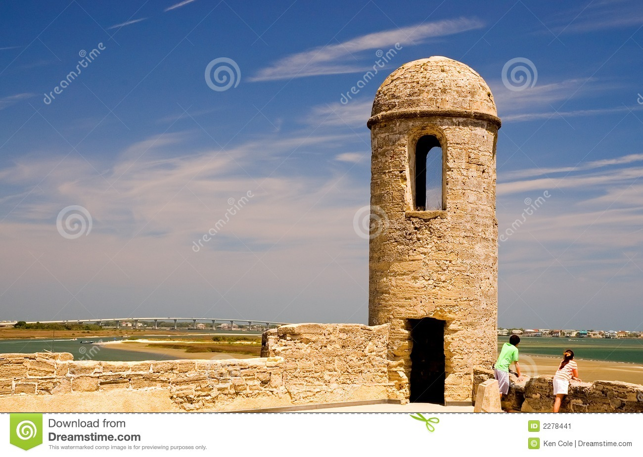 Old Fort Wall And Turret Stock Image Image 2278441.