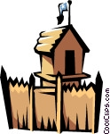 Old fort Vector Clip art.