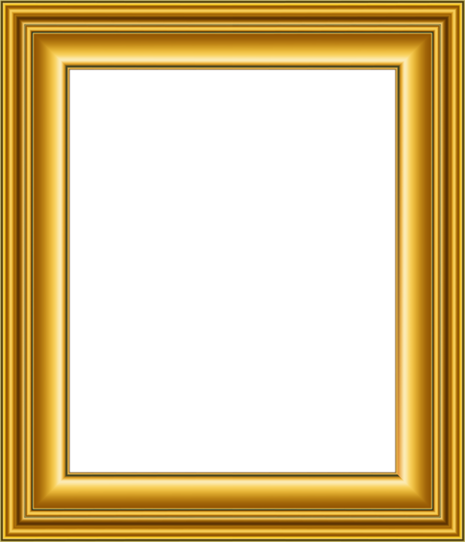 Old Gold Frame Transparent PNG Image.