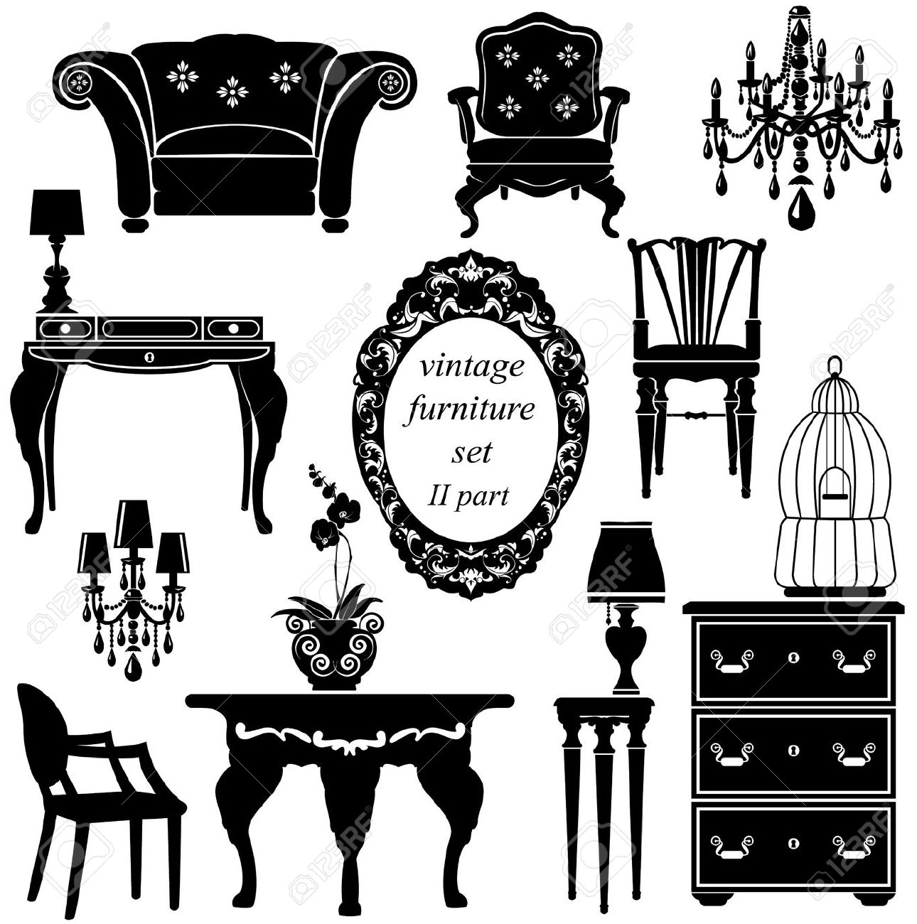 7223 Household Furniture Stock Illustrations Cliparts And