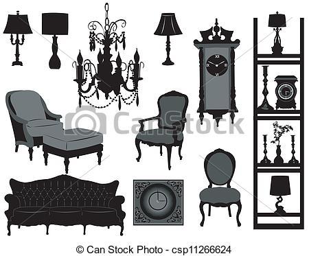 Antique furniture Clip Art Vector Graphics. 2,939 Antique.