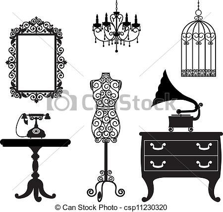 Showing post & media for Cartoon clip art vintage furniture.