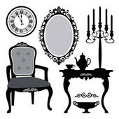 Old furniture clipart.