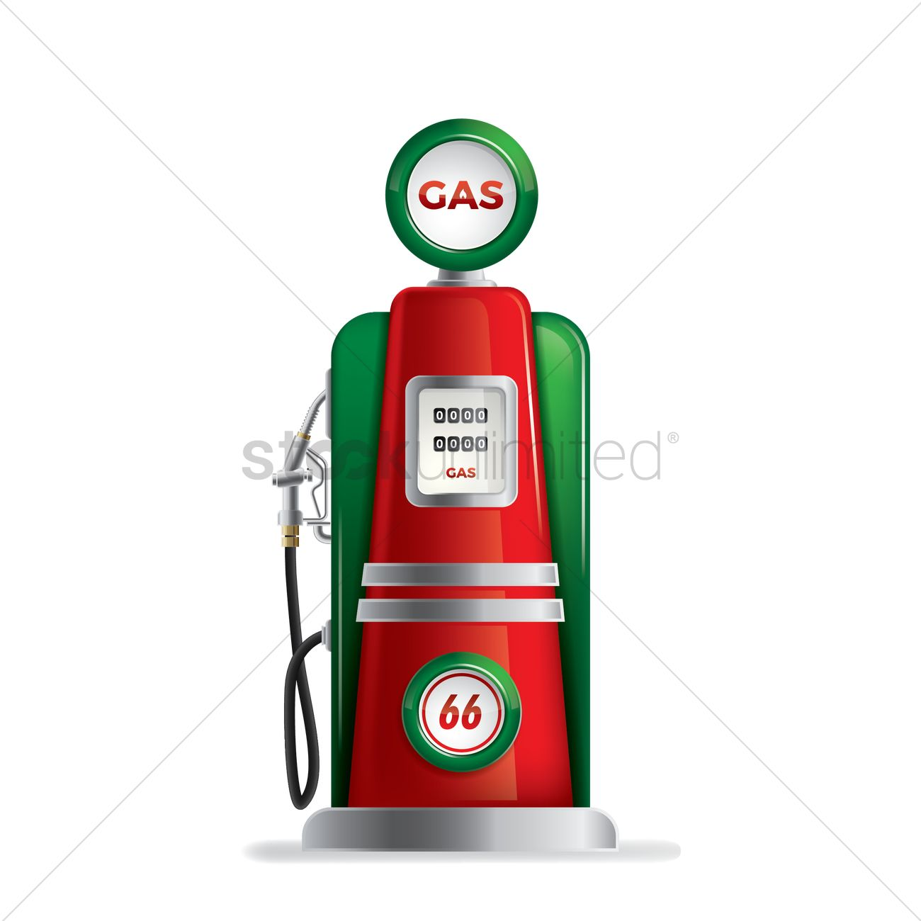 Vintage gas pump Vector Image.