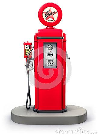 Vintage Gas Pump Stock Illustrations.