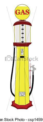 Vector Clip Art of vintage gas pump.