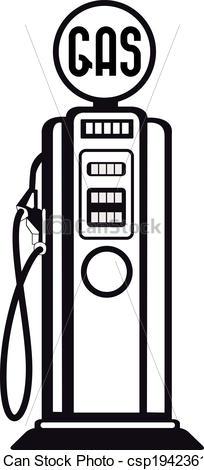 Antique Gas Pump Clipart.