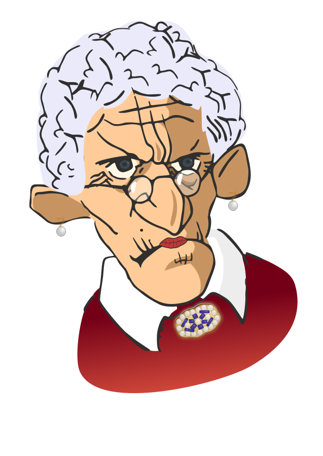 Old German Old Woman Clipart.