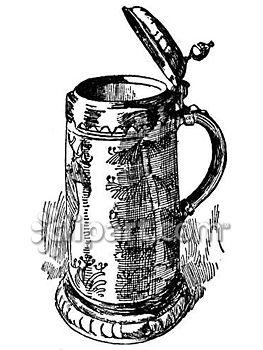 Old German Beer Stein's Clip Art.