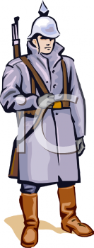 Old soldier clipart.