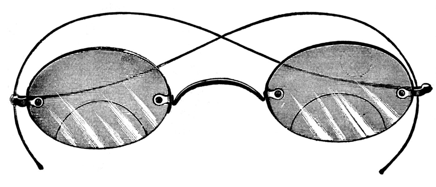 Vintage Glasses Clipart.