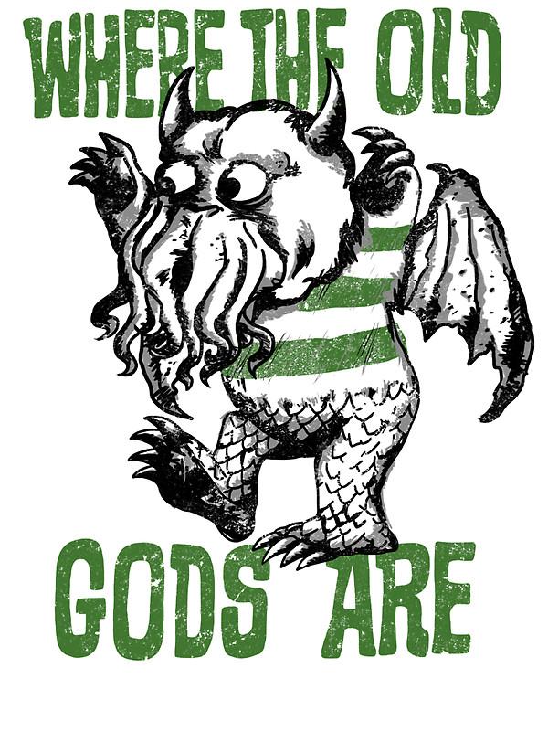 """Old Gods"""" Stickers by Baznet."""