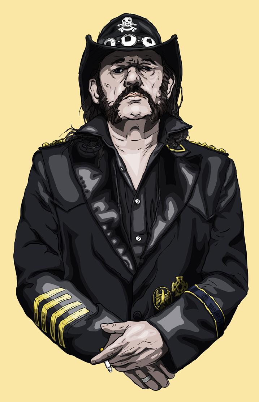 Old Gods Die Hard, portrait of Lemmy Kilmister.
