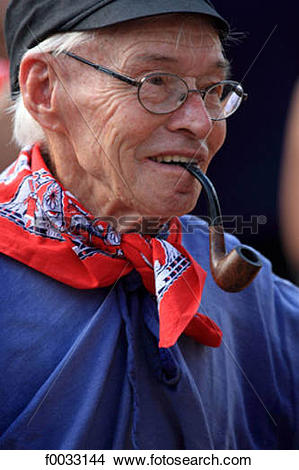 Stock Photo of The Netherlands, South Holland, Gouda, old man in.