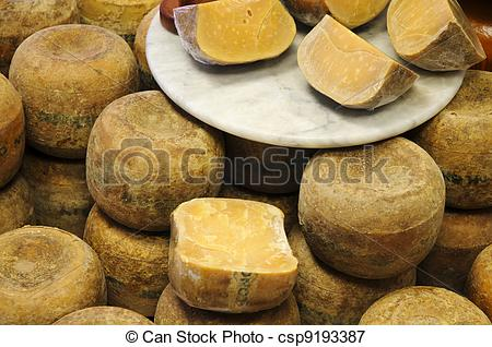 Picture of Old Gouda Cheese in Counter.