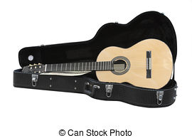 Stock Image of Guitar case.