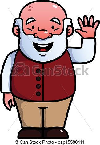 An Old Man Clipart.