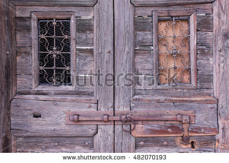Rotten Door Stone Stock Photos, Royalty.